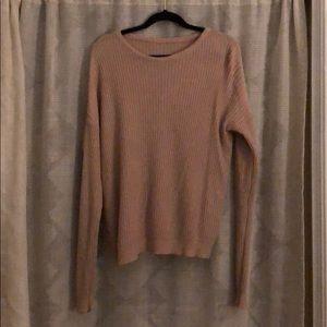 Beige/ pink oversized sweater